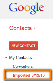 gmail contacts new group appears after import