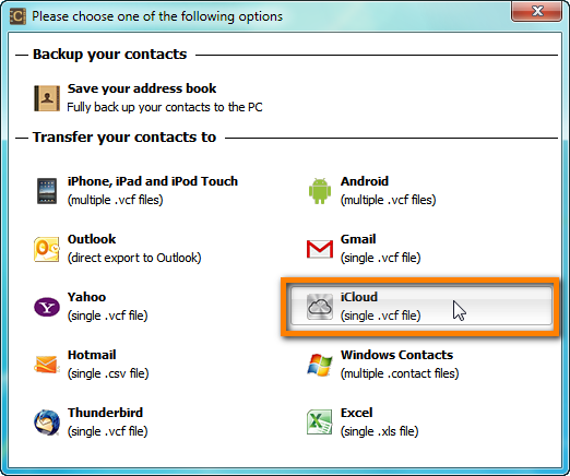 icloud contacts import