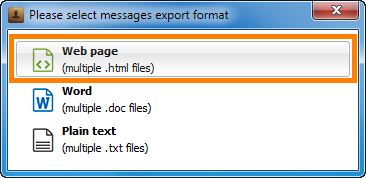 select format to export iphone sms