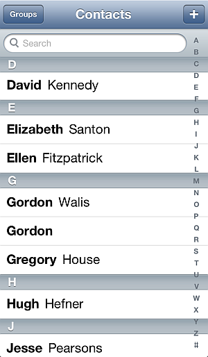 android samsung galaxy contacts on iphone