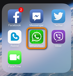 open whatsapp from iphone home screen
