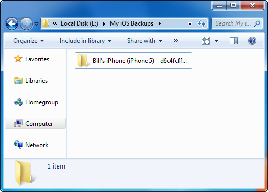 ios backup folder created by copytrans shelbee